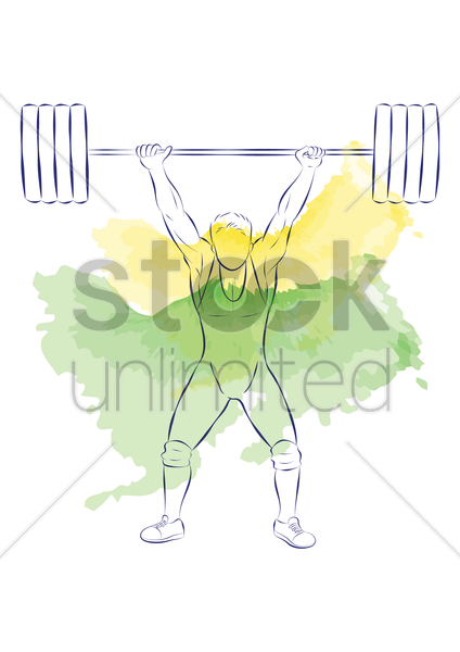 weightlifting vector graphic