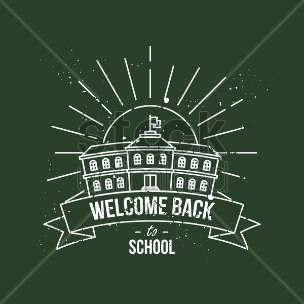 welcome back to school poster vector graphic