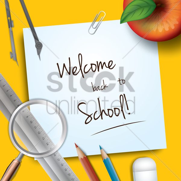 welcome back to school vector graphic