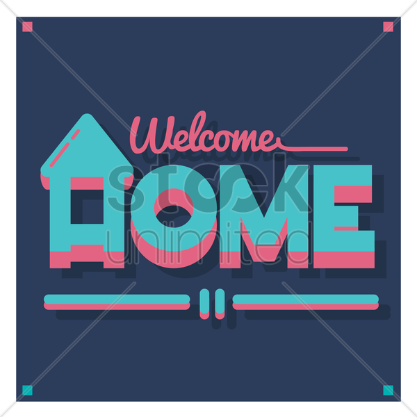 welcome home vector graphic