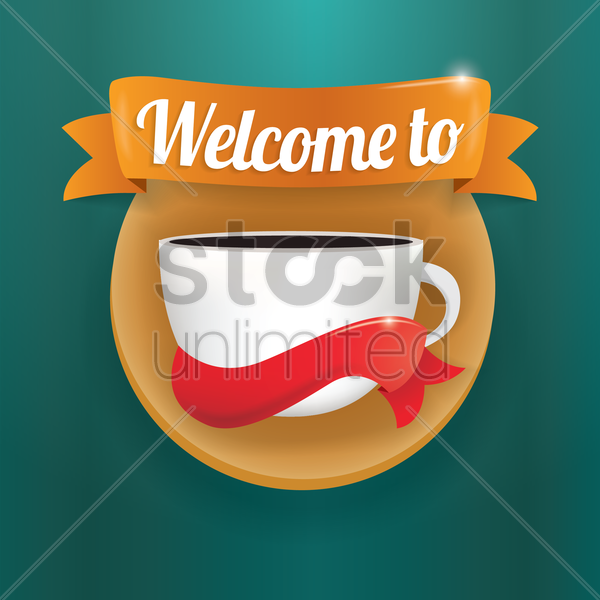 welcome label vector graphic