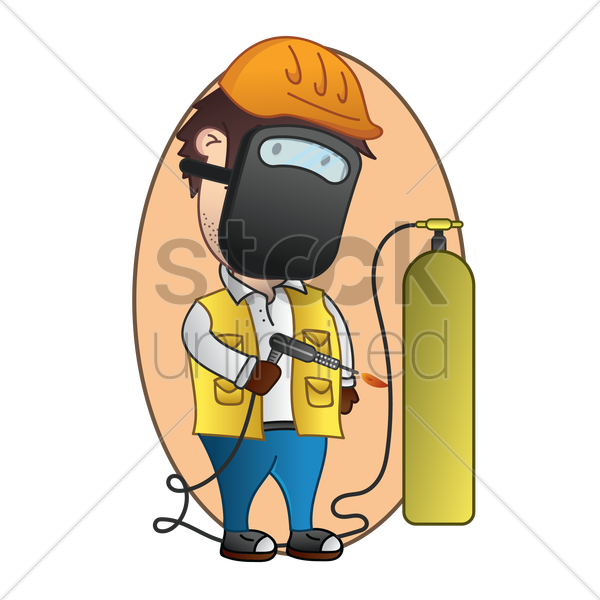 welder vector graphic