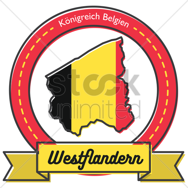 west flandern map label vector graphic