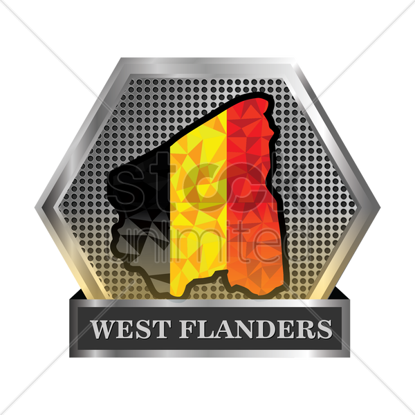west-flanders map vector graphic