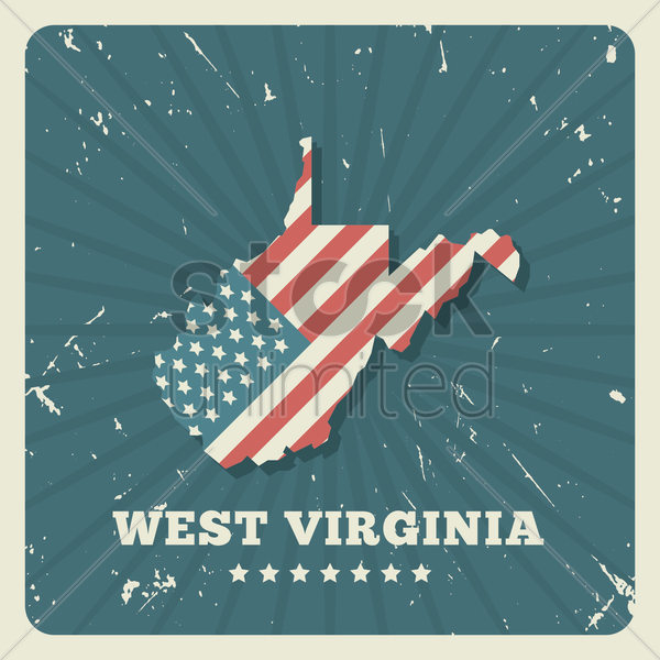 west virginia map vector graphic