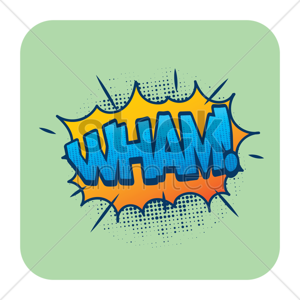 wham comic speech vector graphic