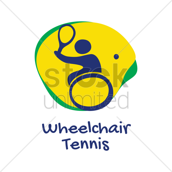 wheelchair tennis icon vector graphic