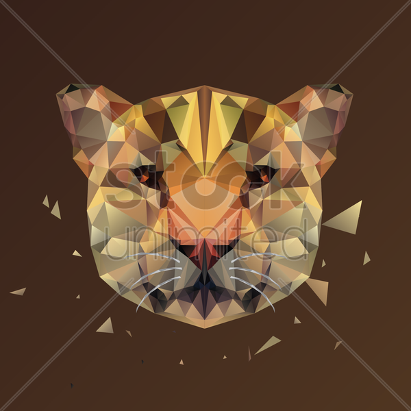 Free wild cat vector graphic