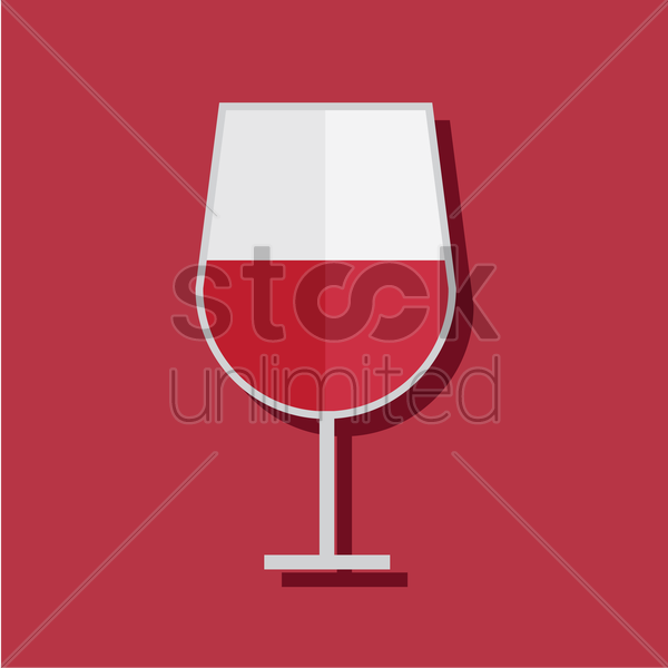 Free wine glass on red background vector graphic