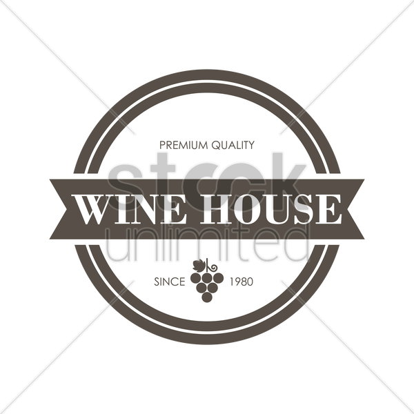 wine house design vector graphic