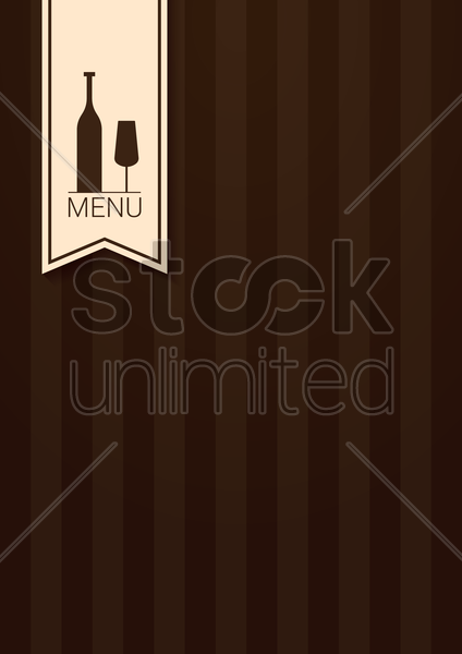wine menu design vector graphic