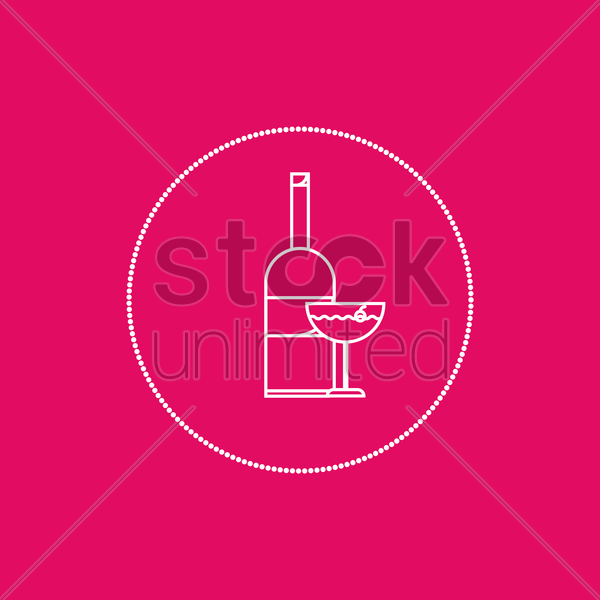 wine vector graphic