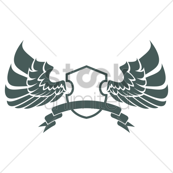 wing emblem vector graphic