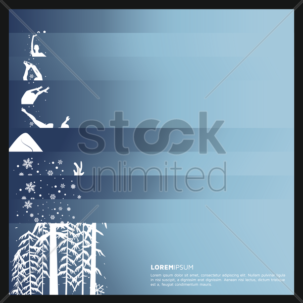winter banner collection vector graphic