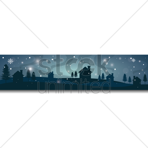 winter landscape banner vector graphic
