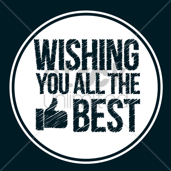 wishing you all the best vector graphic