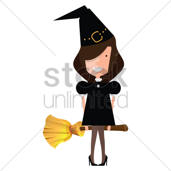 witch vector graphic