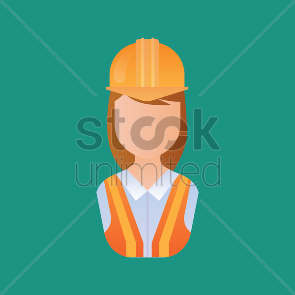 woman construction worker vector graphic