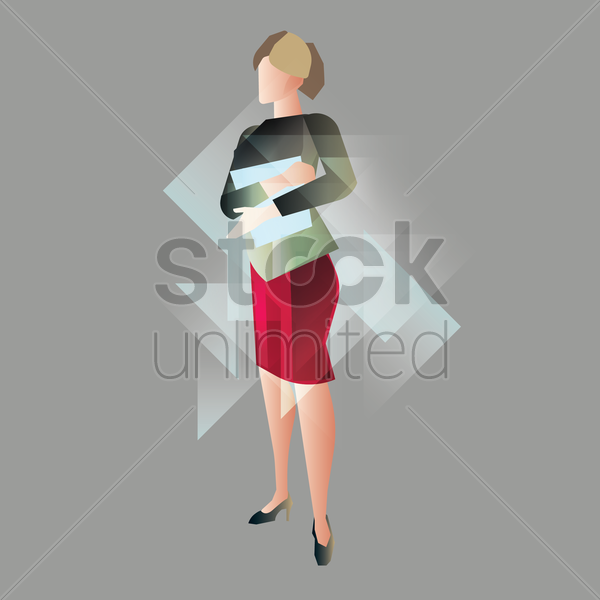 woman dressed in working attire vector graphic
