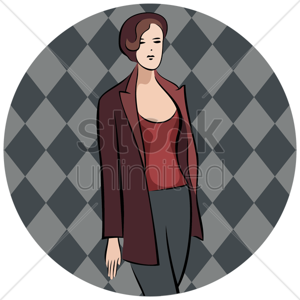 woman in smart casual clothing vector graphic