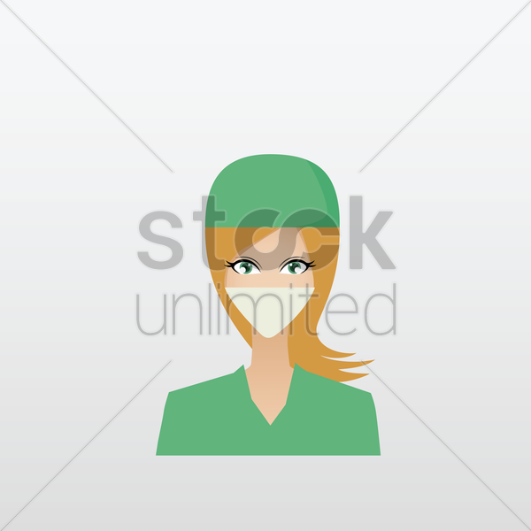 woman surgeon vector graphic