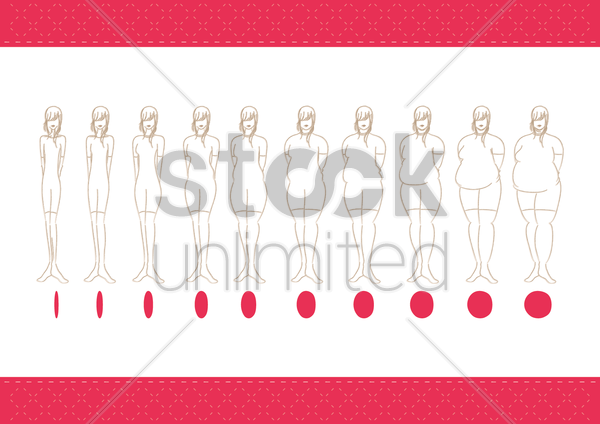 women body types vector graphic