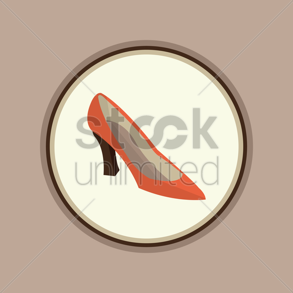 Free women shoe vector graphic