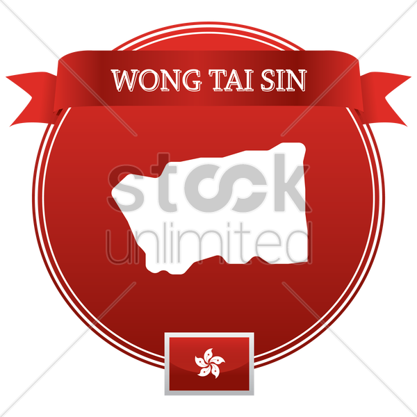 wong tai sin map vector graphic