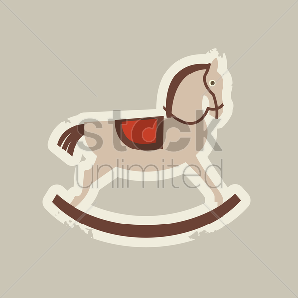 Free wooden rocking horse vector graphic