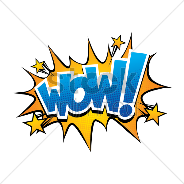 wow comic speech vector graphic