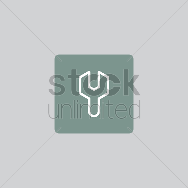 wrench icon vector graphic