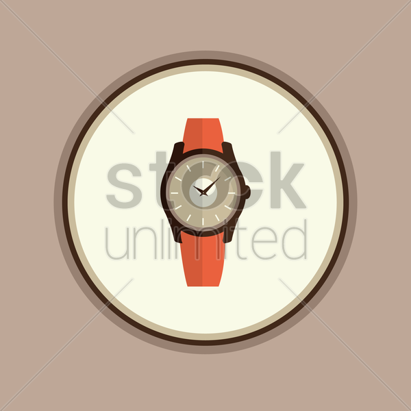 wristwatch vector graphic