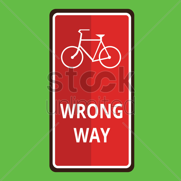 wrong way road sign vector graphic