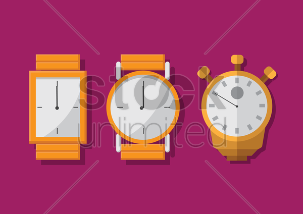 Free wwist watches vector graphic