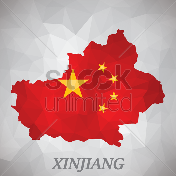 xinjiang map vector graphic