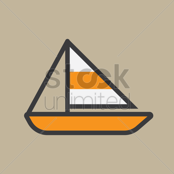 yacht vector graphic
