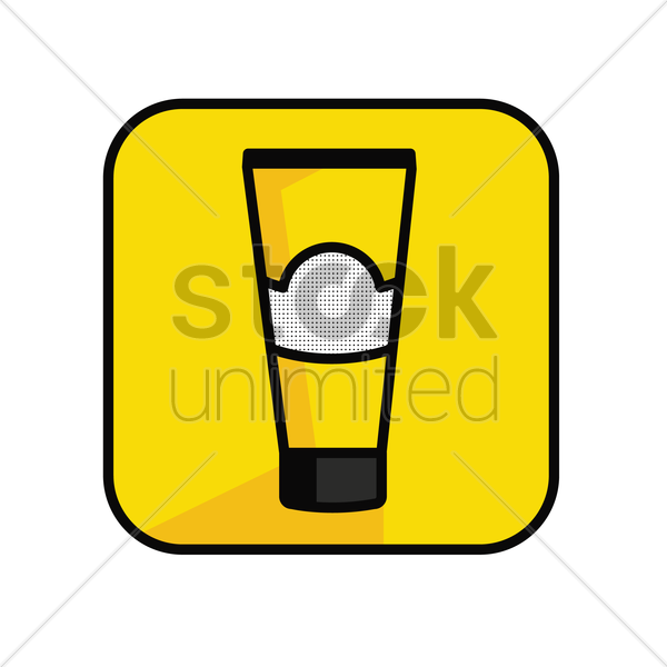 Free yellow tube vector graphic