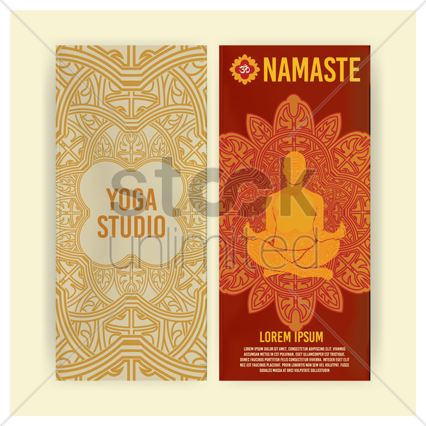yoga brochure vector graphic