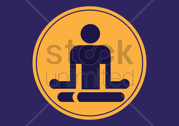 yoga icon vector graphic