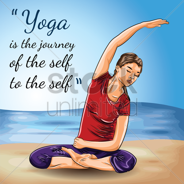yoga motivational quote vector graphic