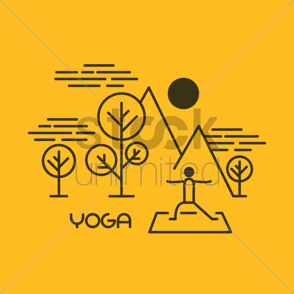yoga wallpaper vector graphic