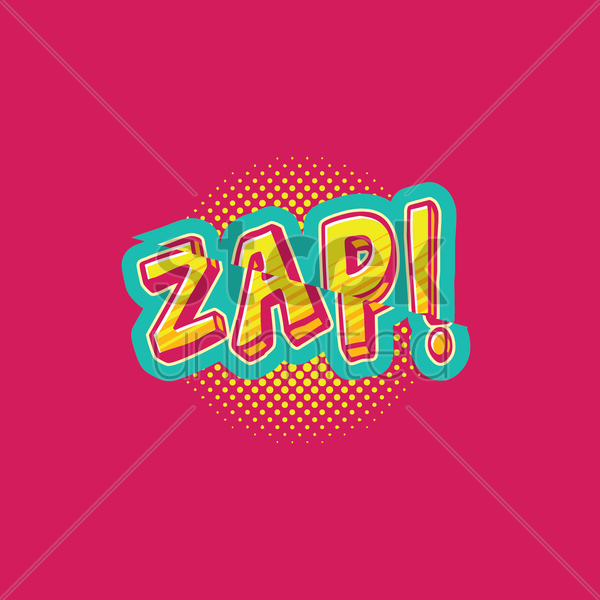 zap comic speech vector graphic