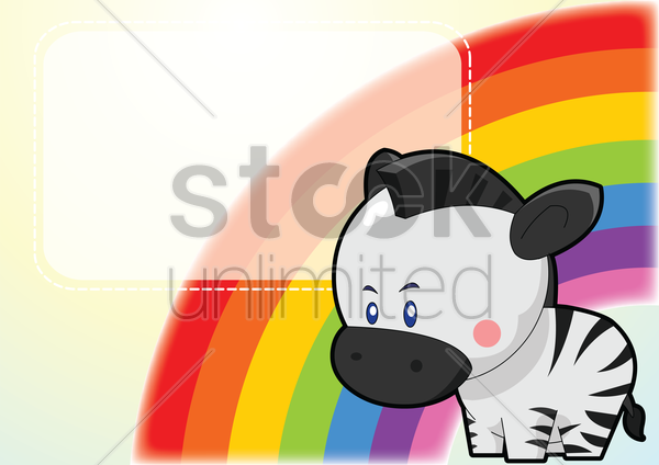 zebra on a label vector graphic