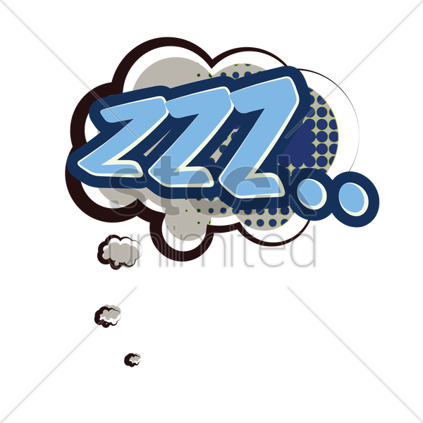 zzz comic speech vector graphic