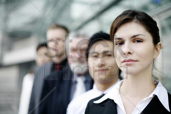 a group of corporate people stock photo