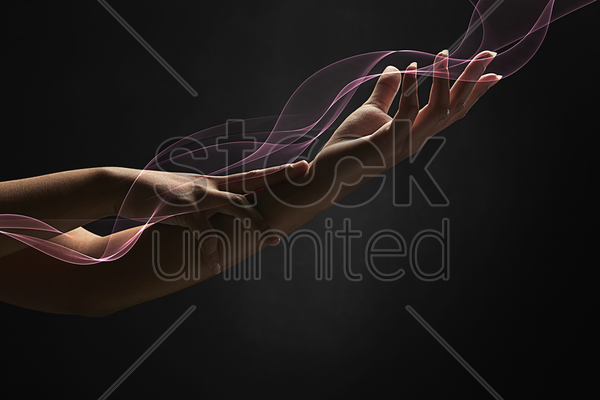 a pair of human hands stock photo