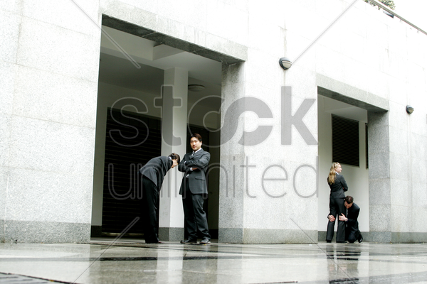 a wife and a husband asking for forgiveness stock photo