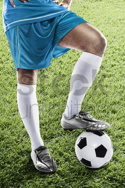 argentina soccer player ready for kick off stock photo