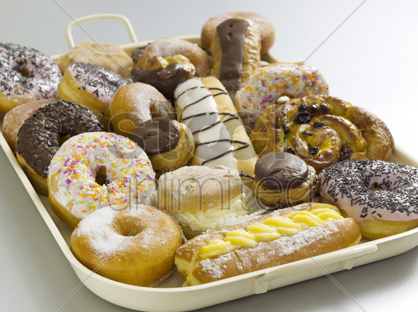 assorted cakes and confection stock photo