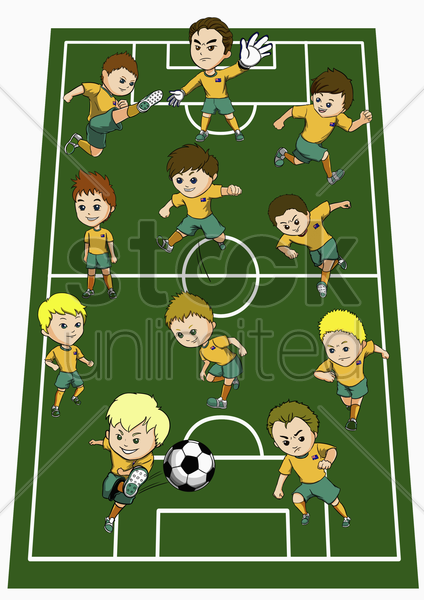australia team formation stock photo